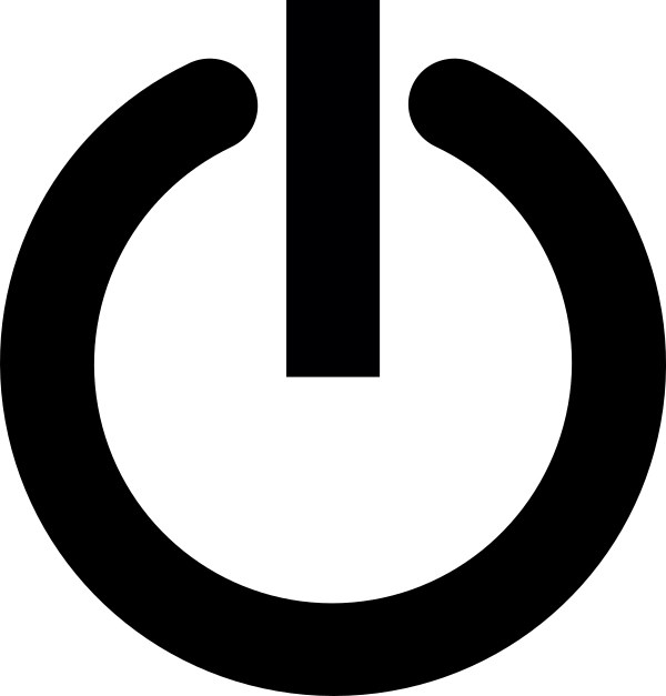 Image of a power button icon